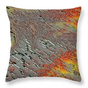 Sunset On The Beach Sand Throw Pillow