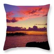 Big Island Sunset - Hawaii Throw Pillow