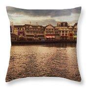 Sunset On The Boardwalk Walt Disney World Throw Pillow