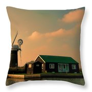 Sunset On The Broads Throw Pillow