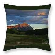 Sunset On The Butte Throw Pillow