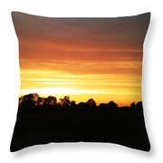 Sunset On The Edge Of Town Throw Pillow
