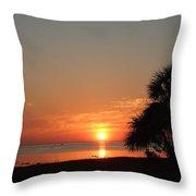Sunset On The Florida Gulf Throw Pillow