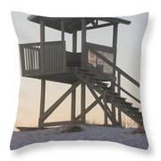 Sunset On The Gaurd Shack Throw Pillow