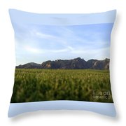 Sunset On The Golf Course Throw Pillow