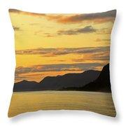 Sunset On The Gulf Of Alaska Throw Pillow