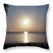 Sunset On The Gulf Of Mexico Throw Pillow