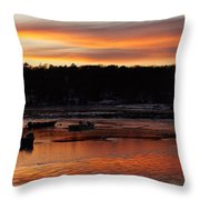 Sunset On The Harbor Throw Pillow