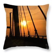 Sunset On The High Rise Throw Pillow