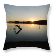 Sunset On The Lake 3 Throw Pillow