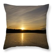 The End Of A Great Day Throw Pillow
