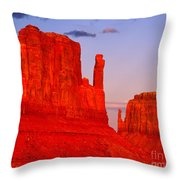 Sunset On The Mittens Throw Pillow