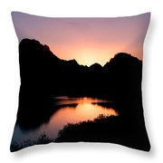 Sunset On The Oxbow Throw Pillow