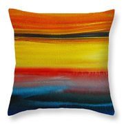 Sunset On The Puget Sound Throw Pillow