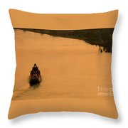 Sunset On The River Bend Throw Pillow