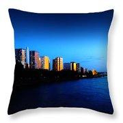 Sunset On The Seine Throw Pillow