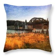Sunset On The Siuslaw River Throw Pillow