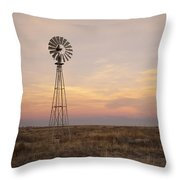 Sunset On The Texas Plains Throw Pillow by Melany Sarafis