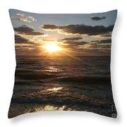 Sunset On Venice Beach  Throw Pillow
