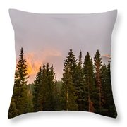 Sunset On West Beckwith Peak Throw Pillow