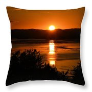 Sunset On Winnesheik Throw Pillow