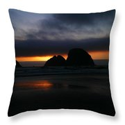 Sunset Oregon Coast Throw Pillow