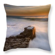 Sunset Over A Rough Sea II Throw Pillow