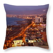 Sunset Over Arica Chile Throw Pillow