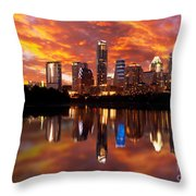 Sunset Over Austin Throw Pillow