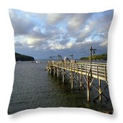 Sunset Over Bar Harbor Throw Pillow
