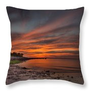 Sunset Over Buzzards Bay Throw Pillow