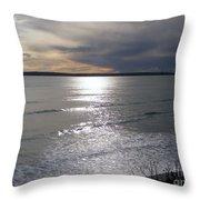 Sunset Over Calypso Beach Throw Pillow