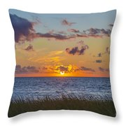 Sunset Over Cape Cod Bay Throw Pillow