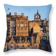 Sunset Over Edinburgh Throw Pillow