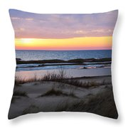 Sunset Over Ice Throw Pillow