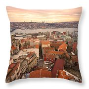 Sunset Over Istanbul Throw Pillow