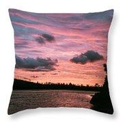 Sunset Over Lake Bailey Throw Pillow