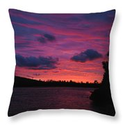 Sunset Over Lake Bailey Throw Pillow