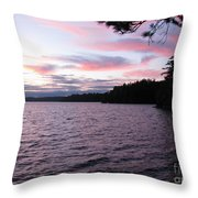 Sunset Over Lake Catchacoma 2 Throw Pillow