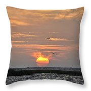 Sunset Over Lake Como Throw Pillow