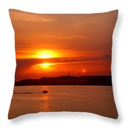 Sunset Over Lake Ozark Throw Pillow