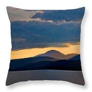 Sunset Over Lake Pend Oreille Throw Pillow