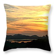 Sunset Over Lake Wohlford Throw Pillow