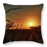 Sunset Over Little Lagoon Bayou Throw Pillow