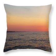 Sunset Over Montauk Throw Pillow by John Telfer