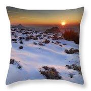 sunset over National park Sierra Nevada Throw Pillow
