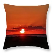 Sunset Over Ocracoke Island Throw Pillow