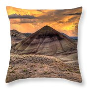 Sunset Over Painted Hills In Oregon Throw Pillow
