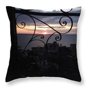 Sunset Over Puerto Vallarta Throw Pillow