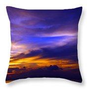 Sunset Over Sea Throw Pillow